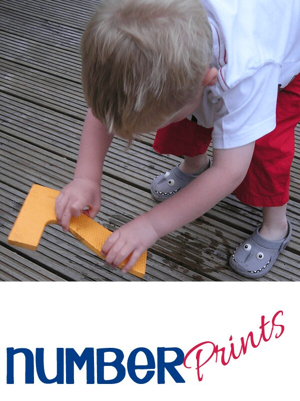 Number prints - getting ready for K through play