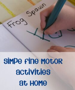 Simple and Fun fine motor activities for home - helping your child get reading for school through play