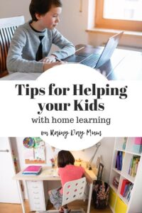 pinterest image for the post on Tips for Helping your kids with home learning this academic year