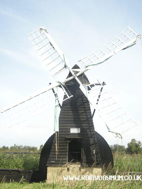 Traditional Fen Wind Pump on Wicken Fen in Cambridgeshire