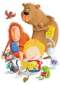 Illustration by Lee Wildish to celebrate Red House Children's Book Awards 2014
