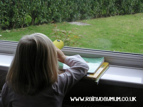 Simple Rainy Day Activity for Toddler including a craft and a game to help with color recognition
