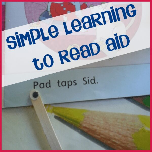 Simple aid for learning to read that you can make with your child
