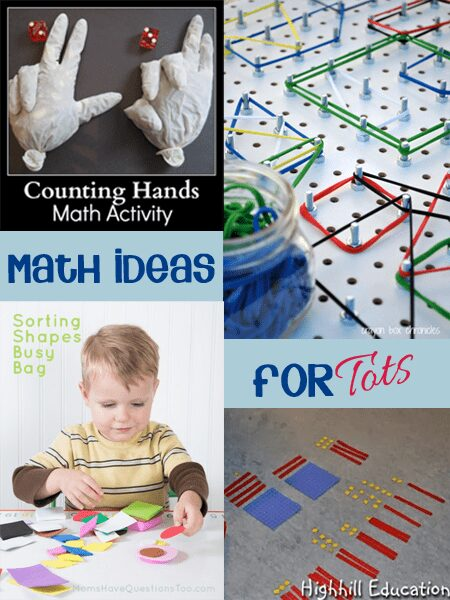 Simple fun math ideas for tots that you can make yourself