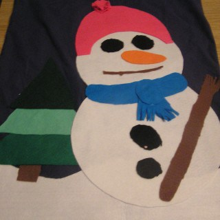 Easy no-sew Christmas Sack for you to make for your kids.