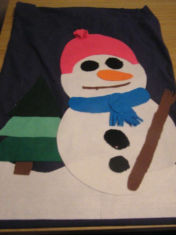 Easy no-sew Christmas Sack