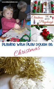 Ideas, Activities and recipes for some festive play dough fun at home with your tots