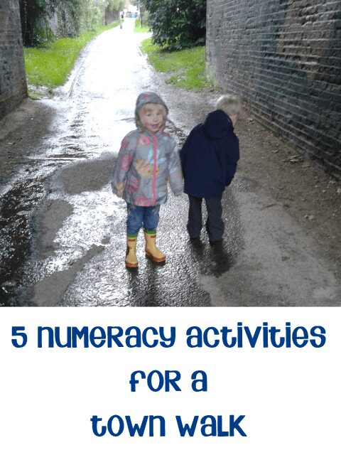 5 Simple Numeracy Activities for a Town Walk