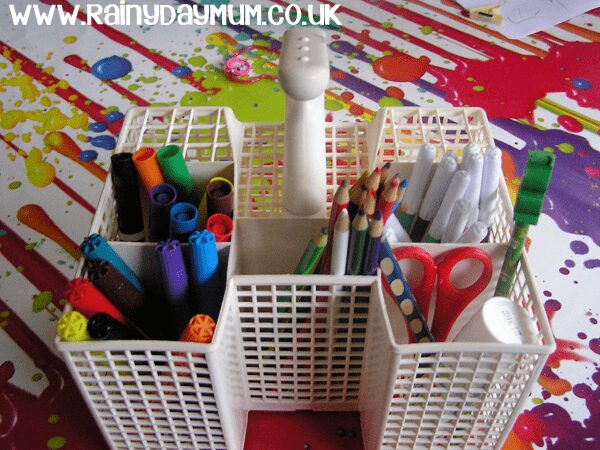 Upcycled Art Caddy