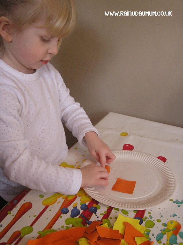 Simple Paper Plate Lion Craft with fine motor skill and scissor practice perfect for preschoolers and kinder aged children.