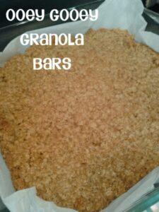 Oooey Gooey Granola bars