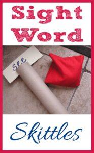 Sight Word Skittles Game