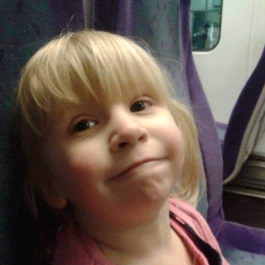Toddler on Train