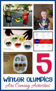 Winter Olympics Activities with Tots