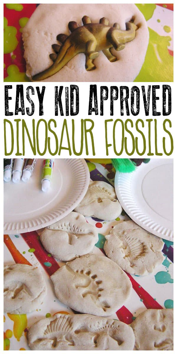 salt dough fossils to make with the kids