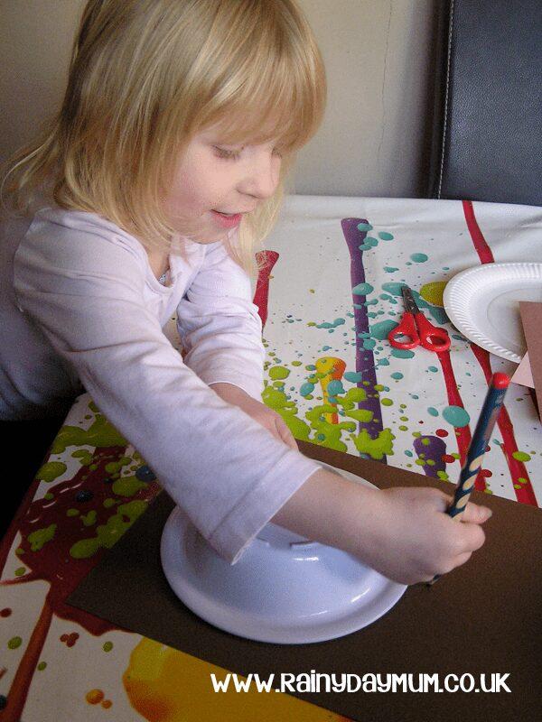Making a Paper Plate Monkey