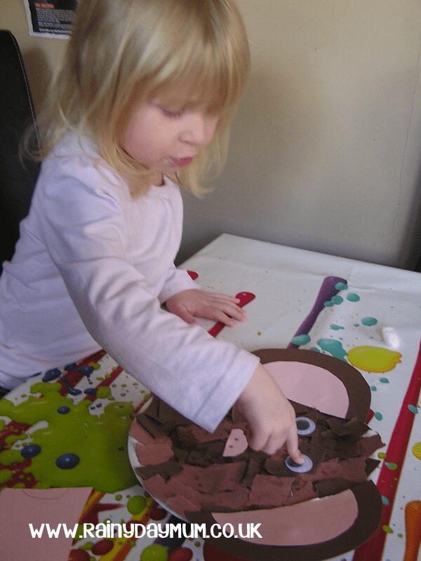Preschool Paper Plate Craft a monkey face
