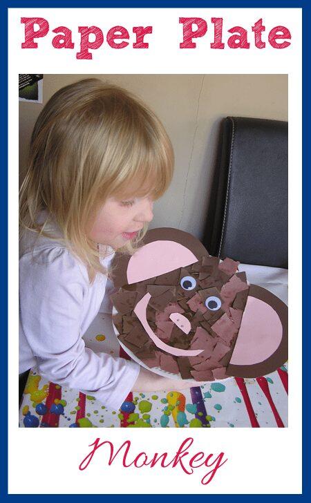 Preschool Paper Plate Craft - make a monkey