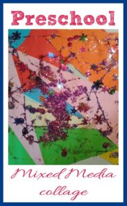 Mixed media Collages for Preschoolers