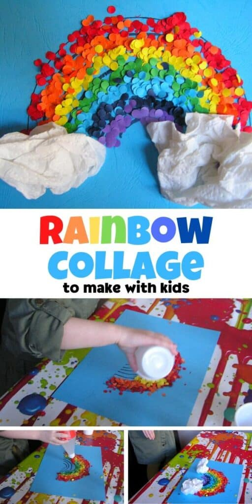 rainbow collage art project for kids