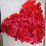 Valentines Craft for kids making a tissue paper heart card to send