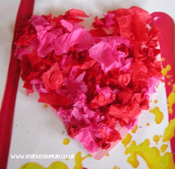 Valentines Tissue Paper Heart