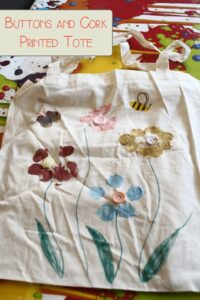 Cork Printed Tote Bag for Kids to Make for Mothers Day