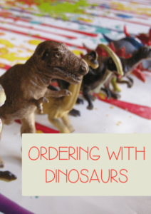 Ordering and sequencing with dinosaurs