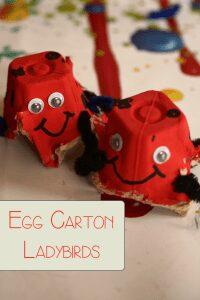 Egg Carton Ladybirds for preschoolers to make