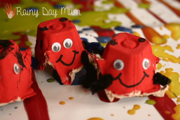 Egg Carton Ladybirds