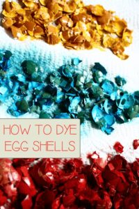 How to dye egg shells