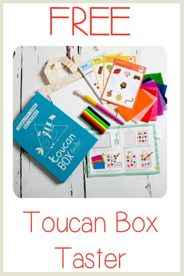 Free Toucan Box Taster for Rainy Day Mum readers in the UK
