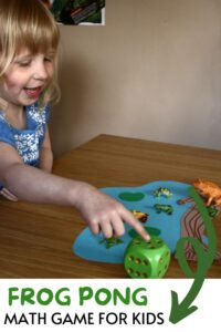 Frog Pond Math Game for Kids Pinterest image from rainy day mum