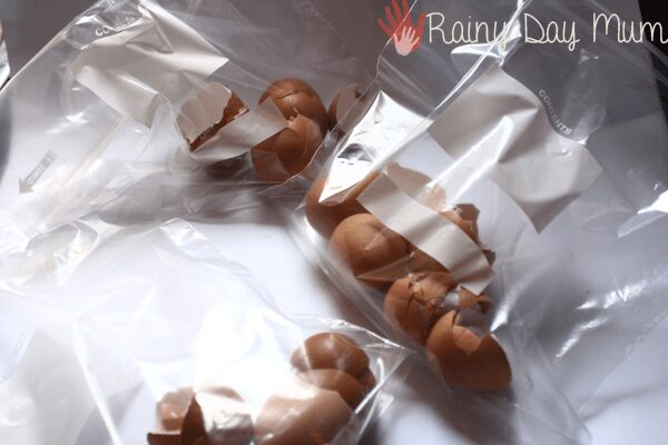 Step by Step how to dye egg shells for craft