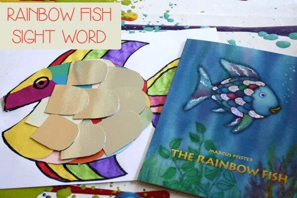 Sight Word Game for the book Rainbow Fish