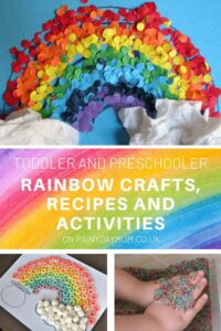 toddler and preschool rainbow fun