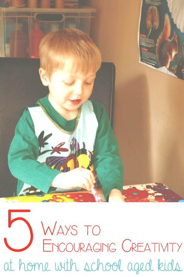 5 ways to encourage creativity at home when the kids start school