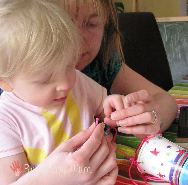 Rainy Day Mum crafting with a toddler