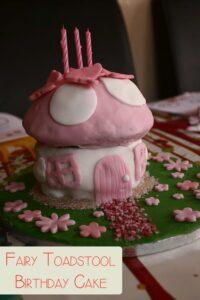 Fairy Home Birthday Cake