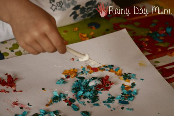 creating collages with preschoolers