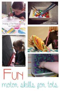 5 Fine motor skills activities for tots