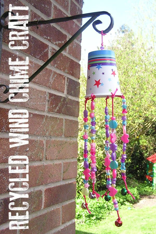 Simple Wind Chime Craft for Toddlers to Make out of Recycled Materials