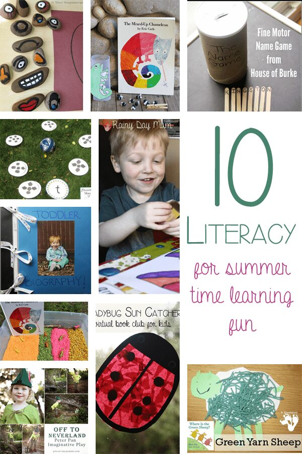 10 Literacy Activities for Summer time learning fun