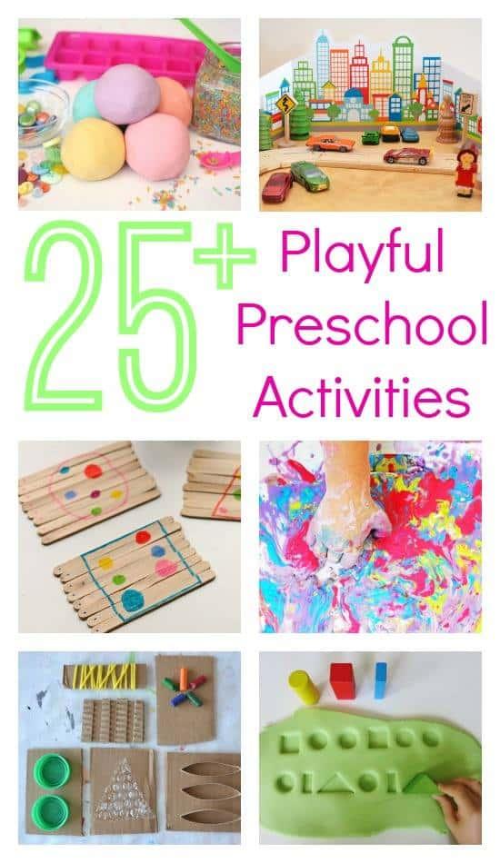 25+ playful preschool activities