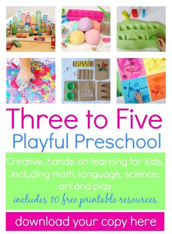 At home projects for 3 year olds