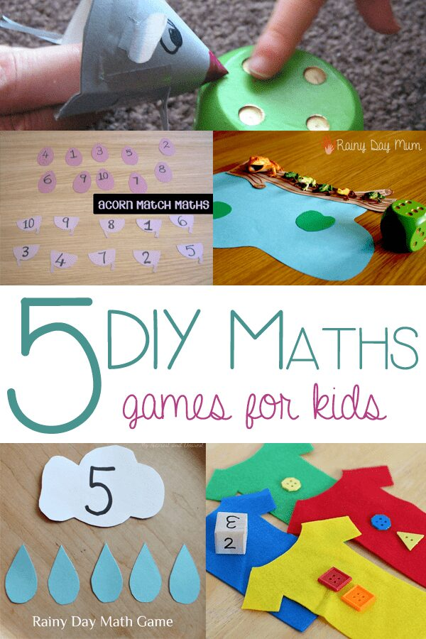 5 DIY Maths Games for Kids
