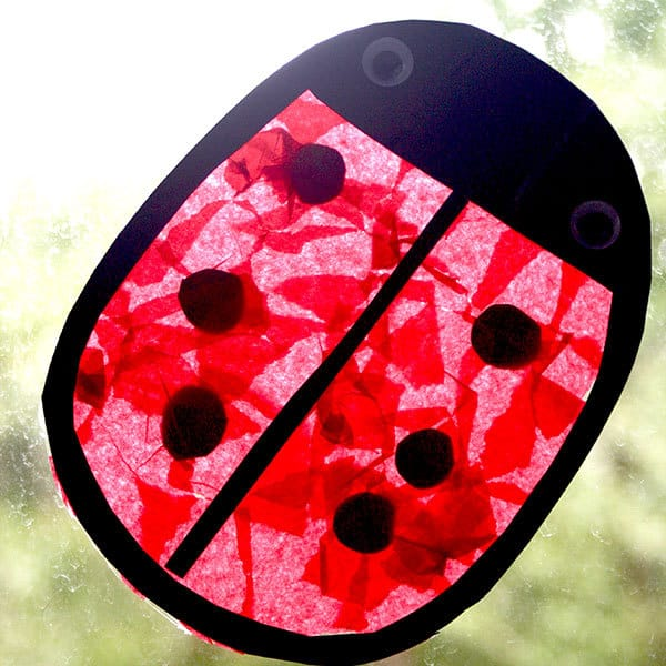 Simple toddler and preschool ladybug craft.