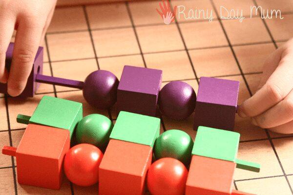 Spielgaben Sets - pattern play for preschoolers