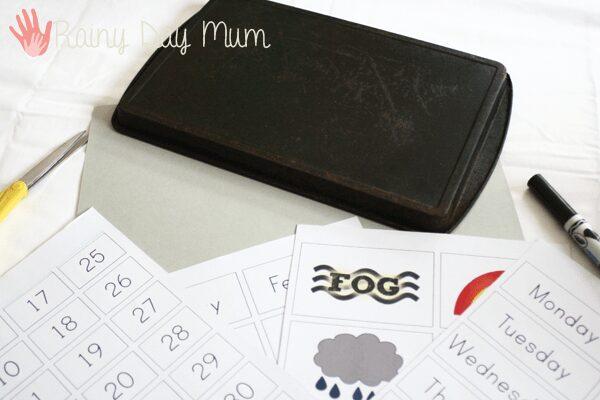 Preschool Calendar for the home