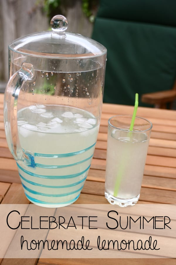 Celebrate Summer - make traditional homemade lemonade with your children with this 3 ingredient recipe